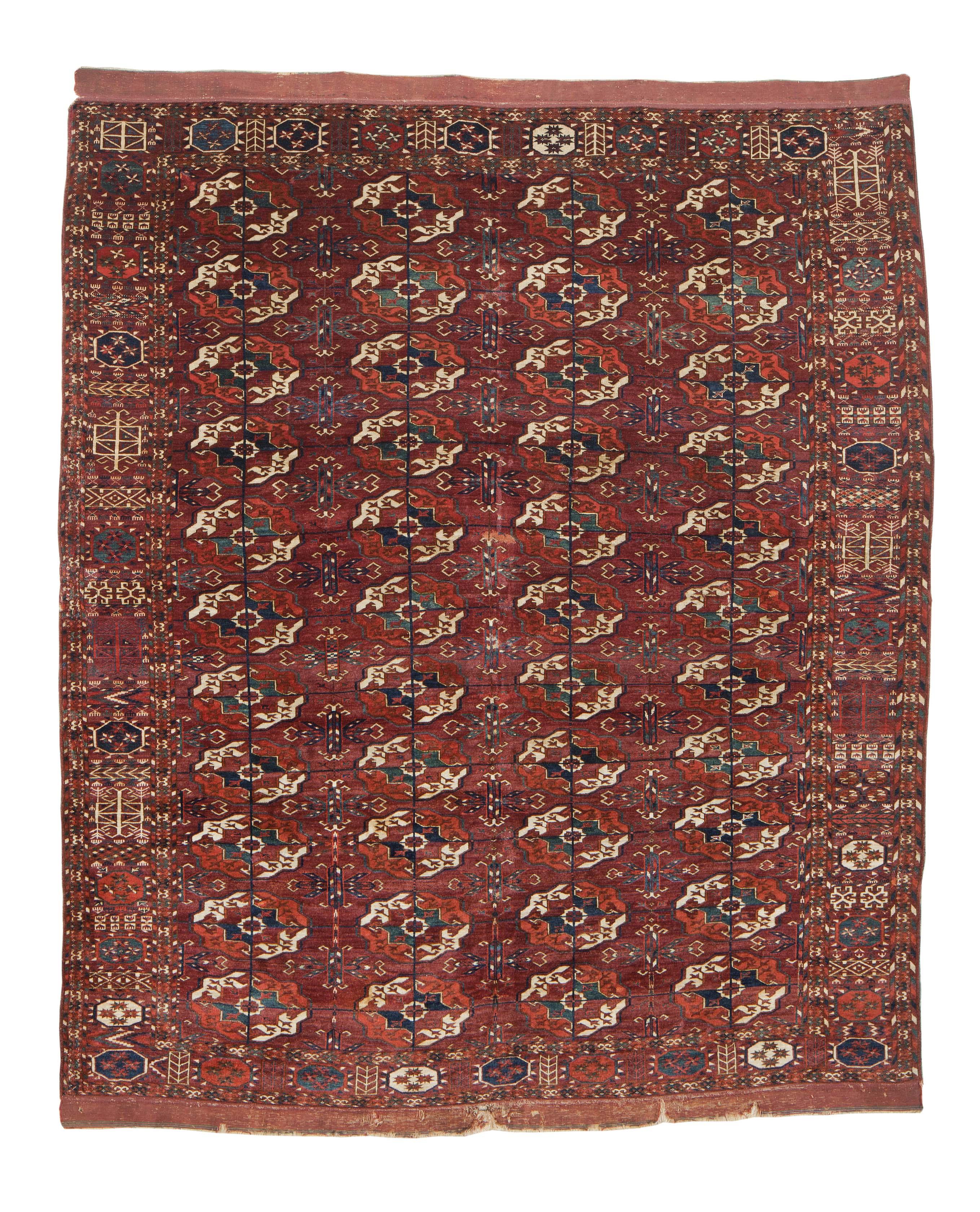 Tekke Turkmen main carpet, 18th/19th century. Ali Foumani, Amsterdam