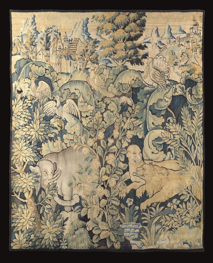 Flemish tapestry fragment, 16th century.  Joanna Booth, London