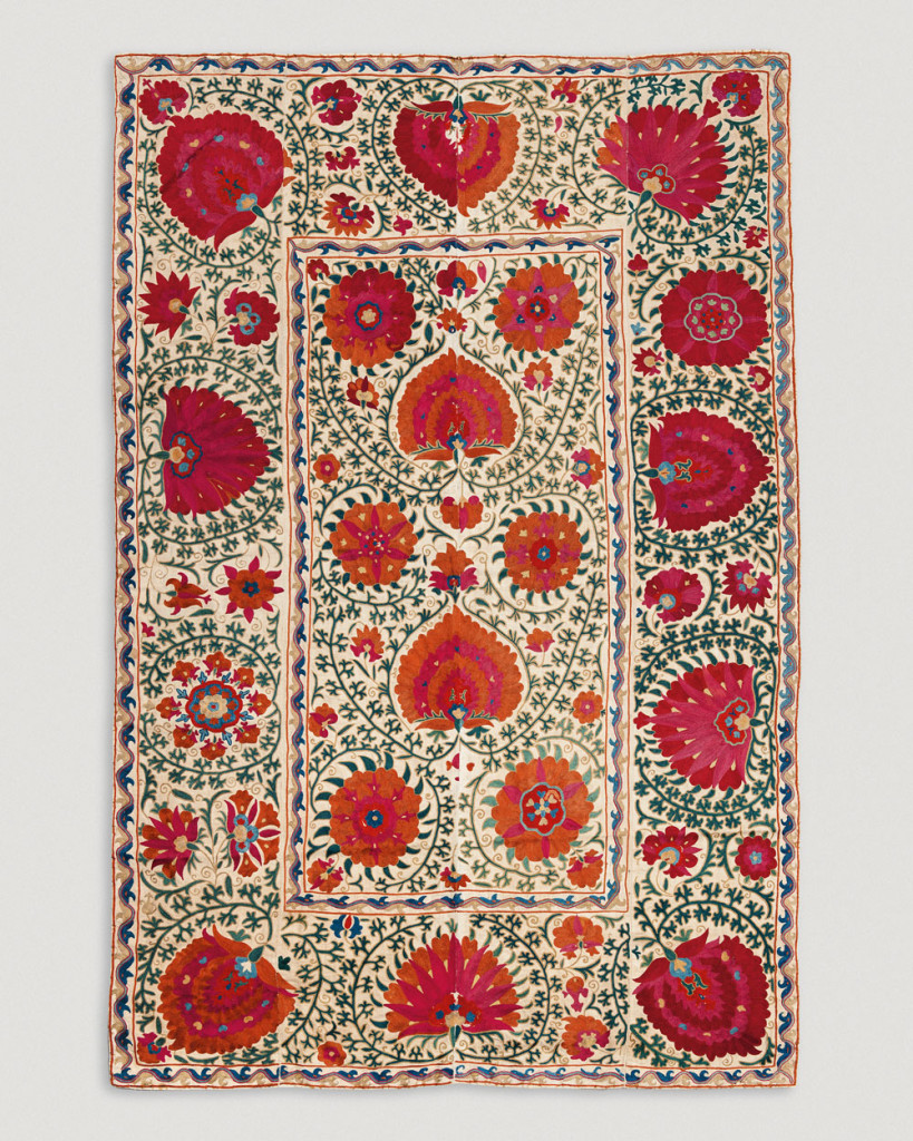 Bukhara suzani, Uzbekistan, 19th century.