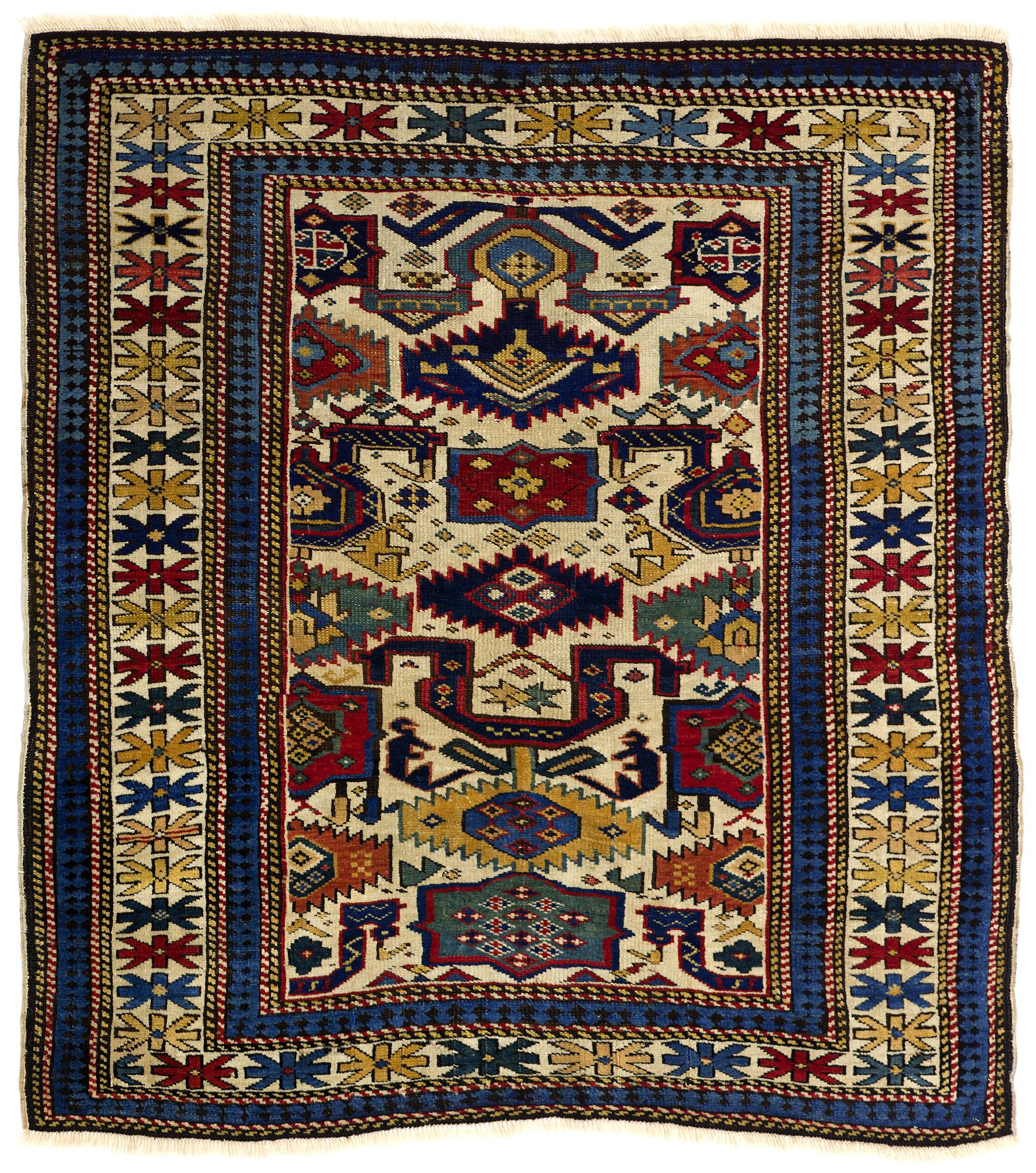 Kuba or Shirvan rug, northeast Caucasus, 19th century. 110 x 114cm. Teppichhaus Lerch, Munich