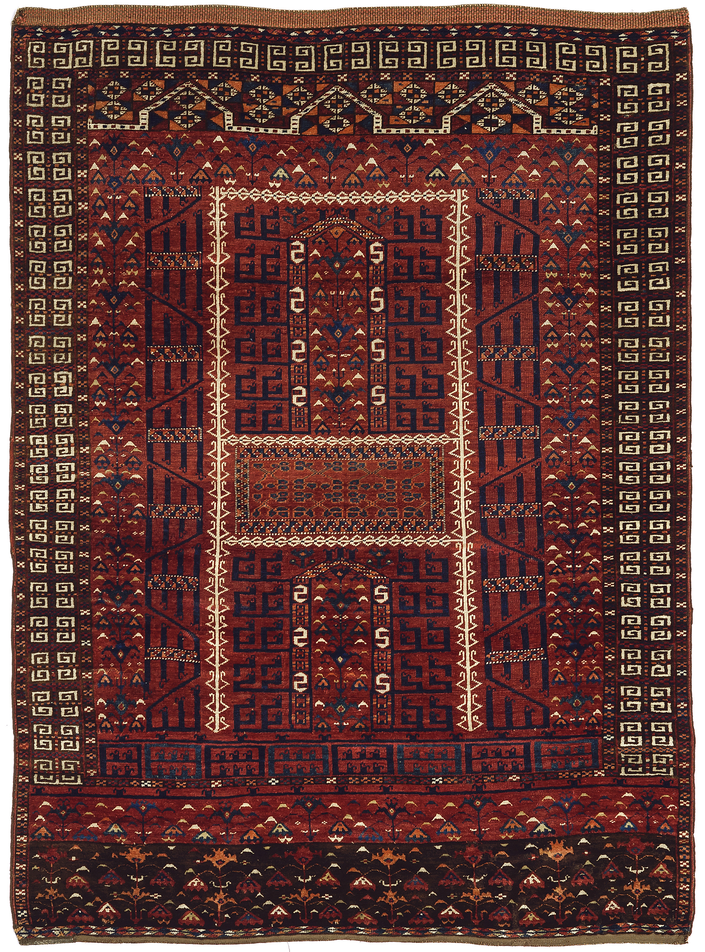 Saryk Turkmen ensi, circa 1800, 126 x 166cm. Teppichhaus Lerch, Munich