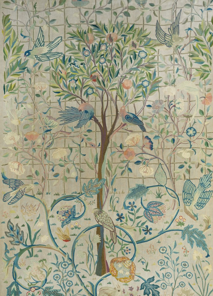 May Morris (1862-1938) A Pair of Hanging Panels a