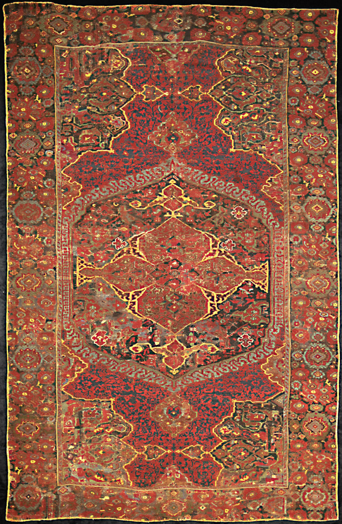 Ushak Medallion carpet, west Anatolia, 17th century. 230 x 350 cm. Mollaian, Ferrara