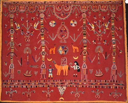 Berber ceremonial embroidery, southwestern Tunisia, late 19th-early 20th century. 142 x 121 cm. Luca Sguaitzer/Non Plus Ultra, Mantua