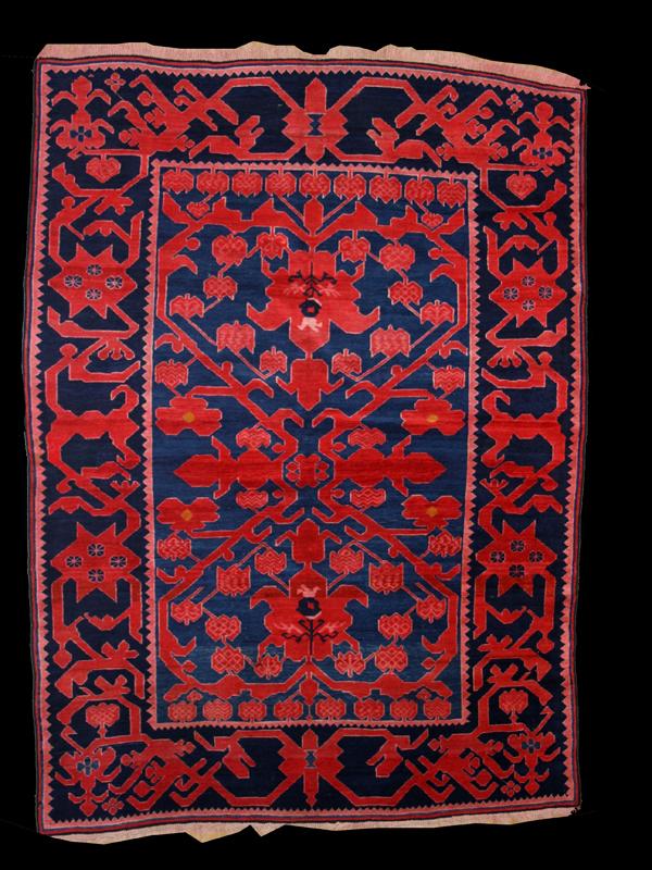 Avar pile rug, Daghestan, northeast Caucasus, early 20th century. 156 x 210cm. Luca Sguaitzer/Non Plus Ultra, Mantua