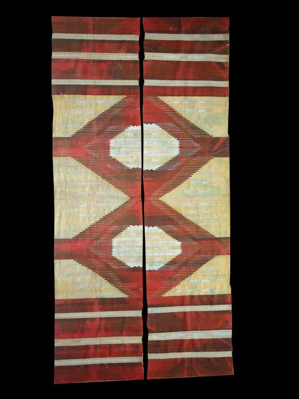 Aleppo silk and metal thread kilim, Syria, late 19th century. 140 x 276 cm. Luca Sguaitzer/Nonplusultra, Mantua