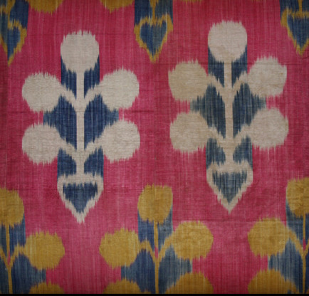 Silk Ikat fragment (detail), Tajikistan, early 20th century. 80 x 150cmLuca Sguaitzer/Non Plus Ultra, Mantua
