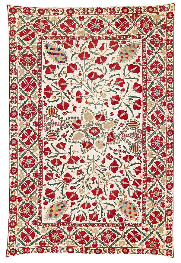 Lot 126. Karshi suzani. sold for €9,760