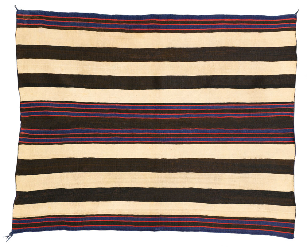 Navajo Classic Man's Chief-style wearing blanket, First Phase with Bayeta.