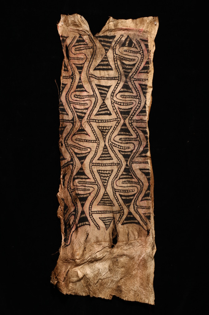 Tapa (bark cloth) panel, possibly for a Fire Dance mask, Baining people, East New Britain, Papua New Guinea, Melanesia,  before 1950, 5109.