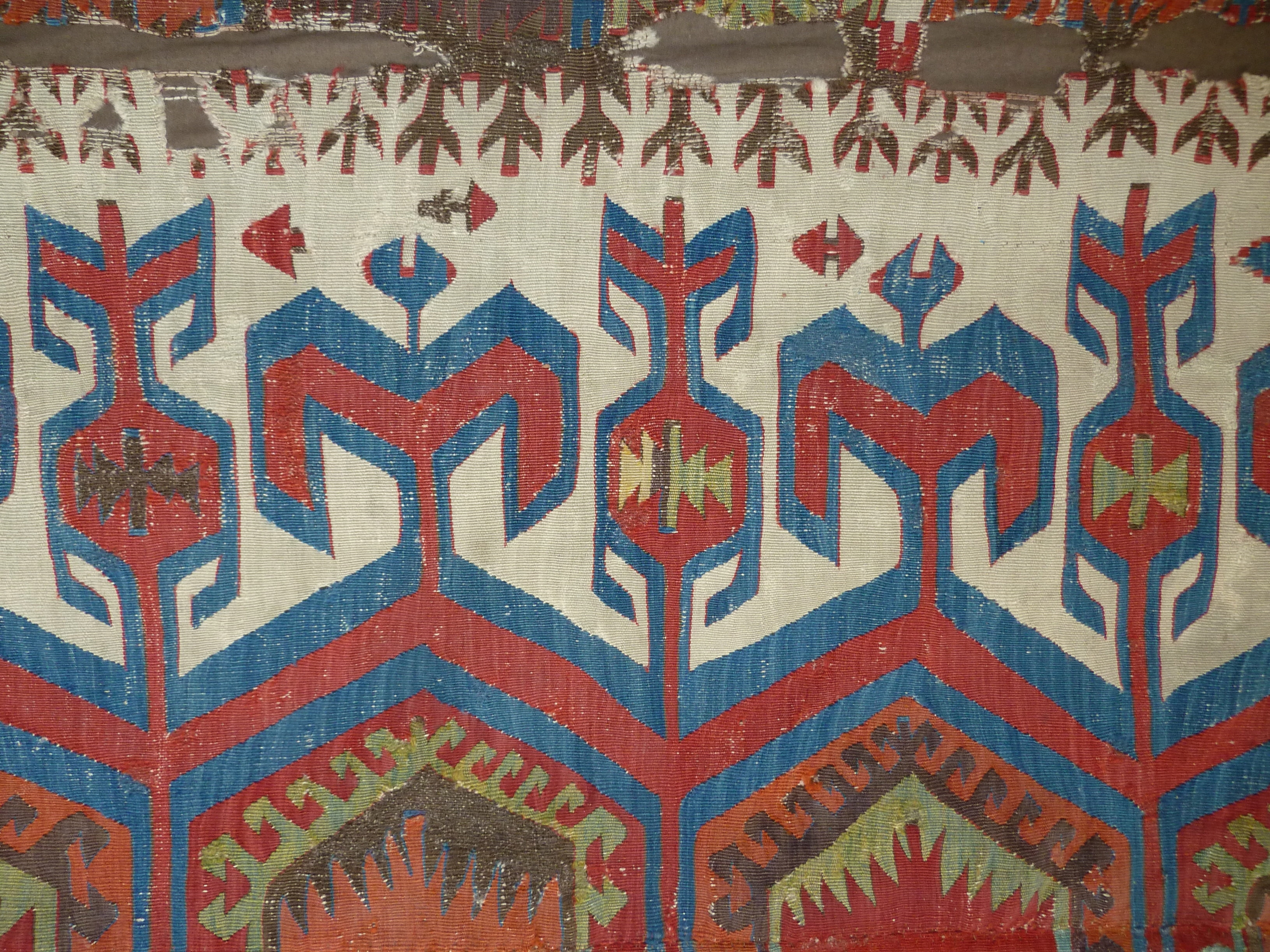 Central Anatolian kilim (detail), before 1800. Markus Voigt, London