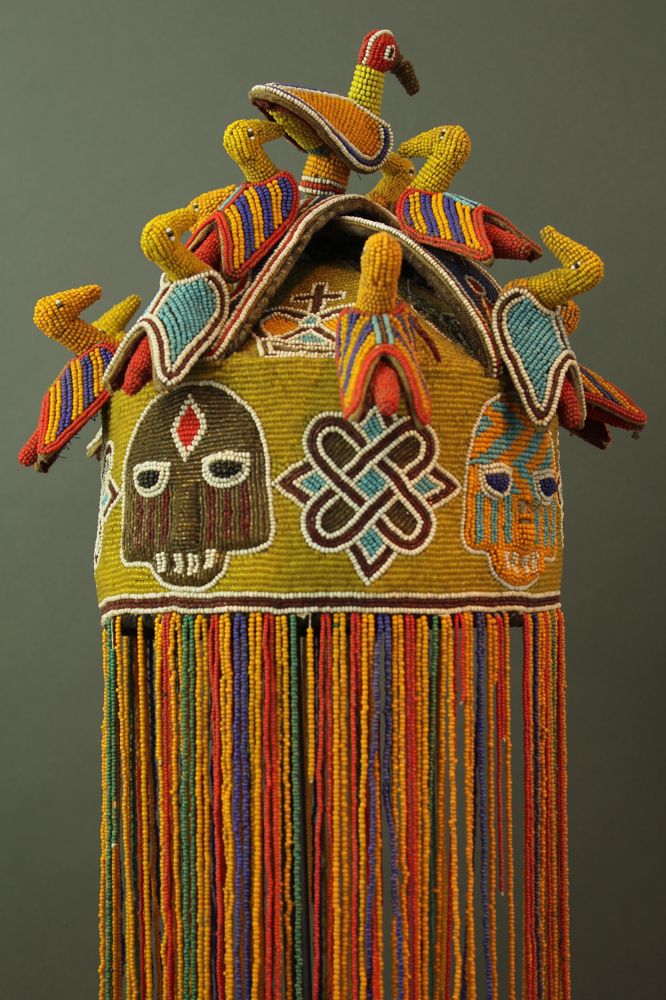 Yoruba beaded crown, Nigeria, 20th century. Tribal Gathering, London