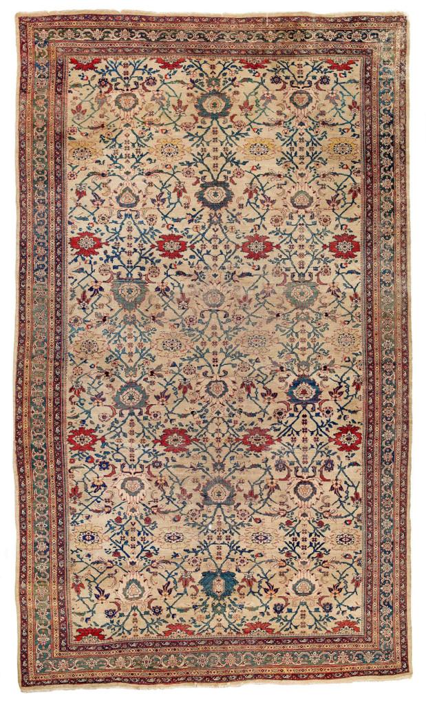 Lot 115. Mahal carpet. sold for €10,980