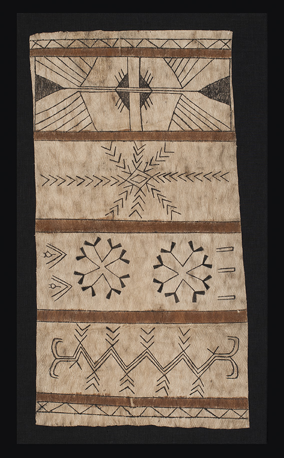Tapa ( bark clot) panel, possibly Santa Cruz Island, Solomon Isles, Melanesia, c.1900. Clive Loveless