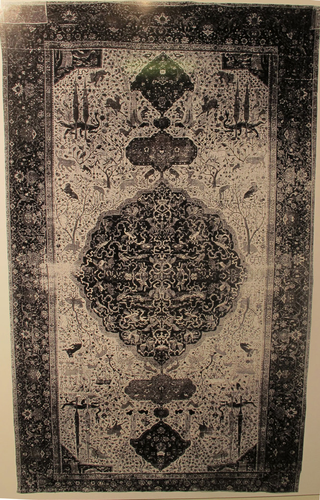 Inv. Nr. I 1. White-ground carpet (604 x 365 cm). North Persia, first half of the sixteenth century. Acquired about 1890 from a synagogue in Genoa by W. von Bode.