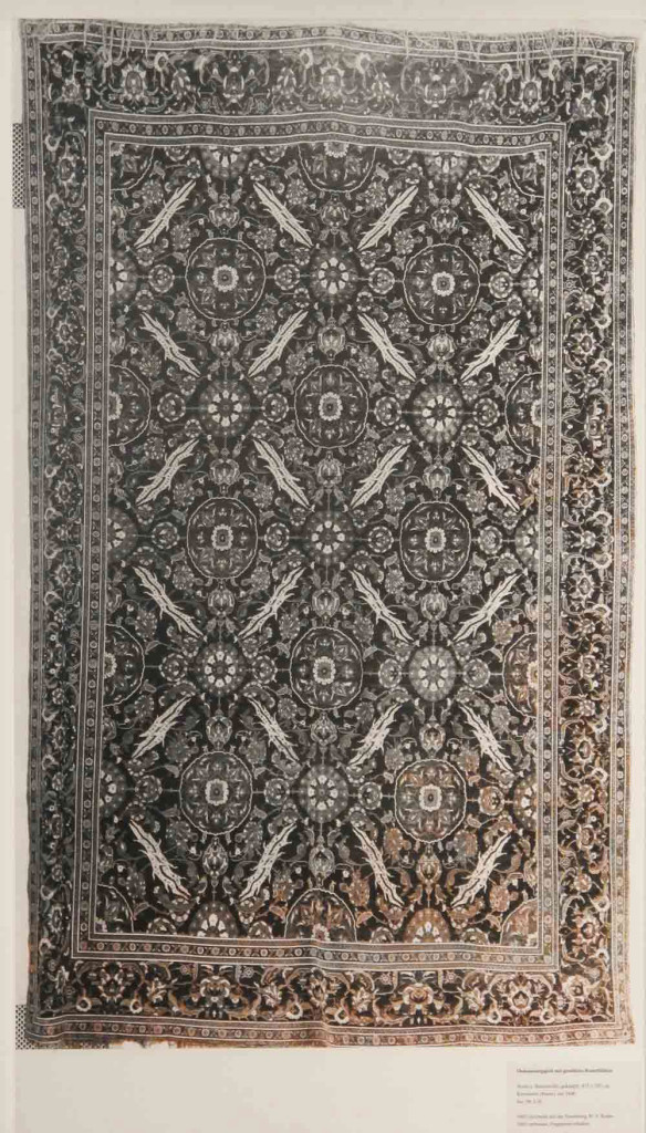 Inv. Nr. I 30. Ottoman carpet (415 x 287 cm), Cairo or Istanbul about 1600. Acquired 1905 as a gift from Bode.