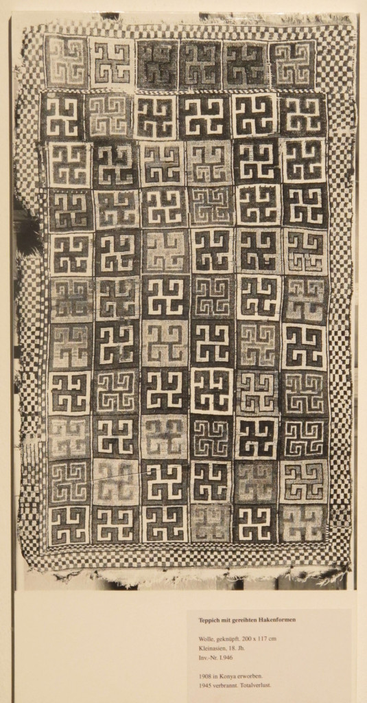 Inv. Nr. I 946. Kurdish carpet (192 x 116 cm), seventeenth or eighteenth century. Acquired 1908 in Konya in Central Anatolia