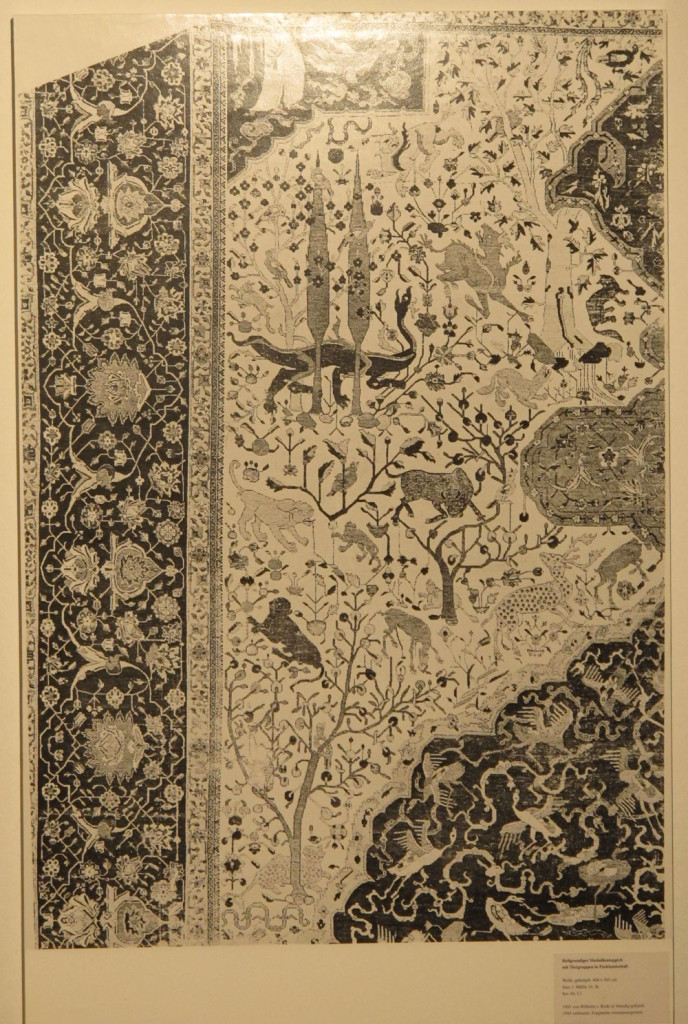 (Detail). White-ground carpet (604 x 365 cm). North Persia, first half of the sixteenth century.