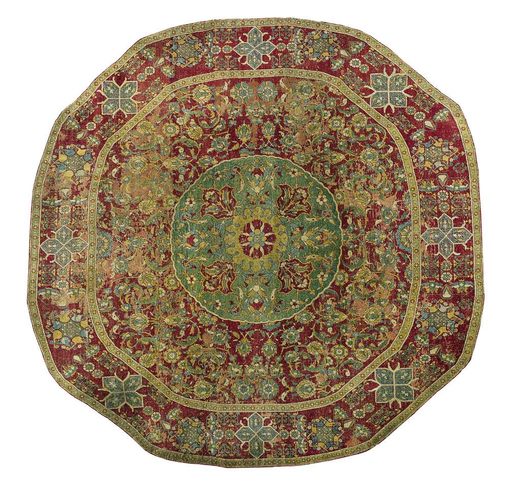Lot-1-round-Ottoman-Cairene-carpet