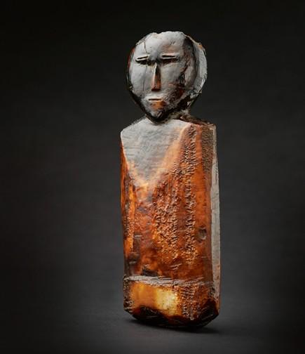 Punuk Ivory Figure, Eskimo people, Alaska, c 500-1200 AD, Walrus Ivory