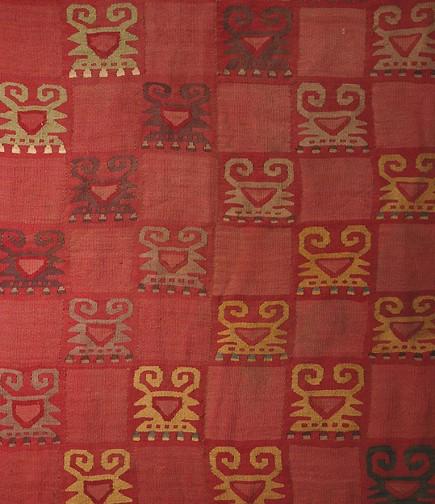 Chimu textile, Peru, Alpaca wool and cotton