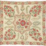 Nurata suzani cover (sandalipush), Uzbekistan, 19th century. 76 x 72 cm. Romain Zaleski collection