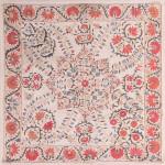 Nurata suzani cover (sandalipush), Uzbekistan, 19th century. 88 x 88 cm Romain Zaleski collection