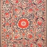 Shahrisyabz suzani, Uzbekistan, 19th century. 252 x 202 cm. Romain Zaleski collection