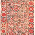 Nurata suzani, Uzbekistan, 19th century. 280 x 166 cm. Romain Zaleski collection