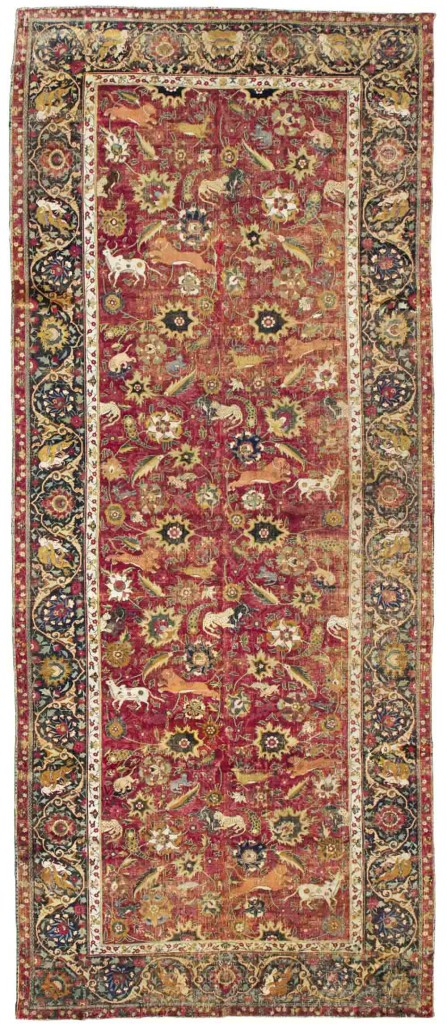 Lot-23,-Mughal-hunting-carpet sotheby's