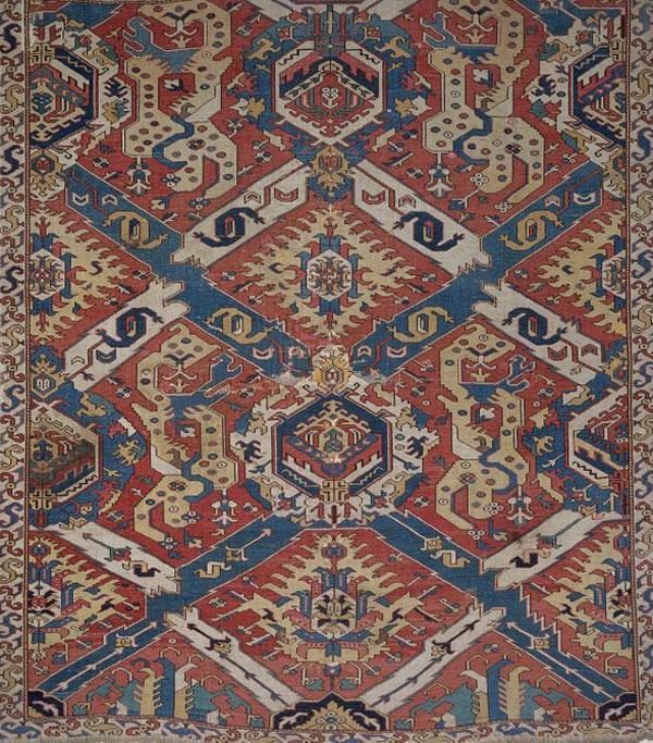 Small Dragon carpet, Caucasus, 17th century. 184 x 212cm. V&A, London, T84.1909