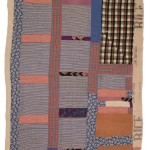 Susana Allen Hunter (1912–2005), Strip Quilt, 1955–1960. Cotton, taffeta, and rayon. The Henry Ford, 2006.79.17. From the Collections of The Henry Ford, Dearborn, Michigan, Quilts exhibition in Michigan