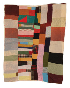 Susana Allen Hunter (1912–2005), Strip Quilt, 1945–1950. Cotton, wool, acetate, and rayon. The Henry Ford, 2006.79.26. From the Collections of The Henry Ford, Dearborn, Michigan