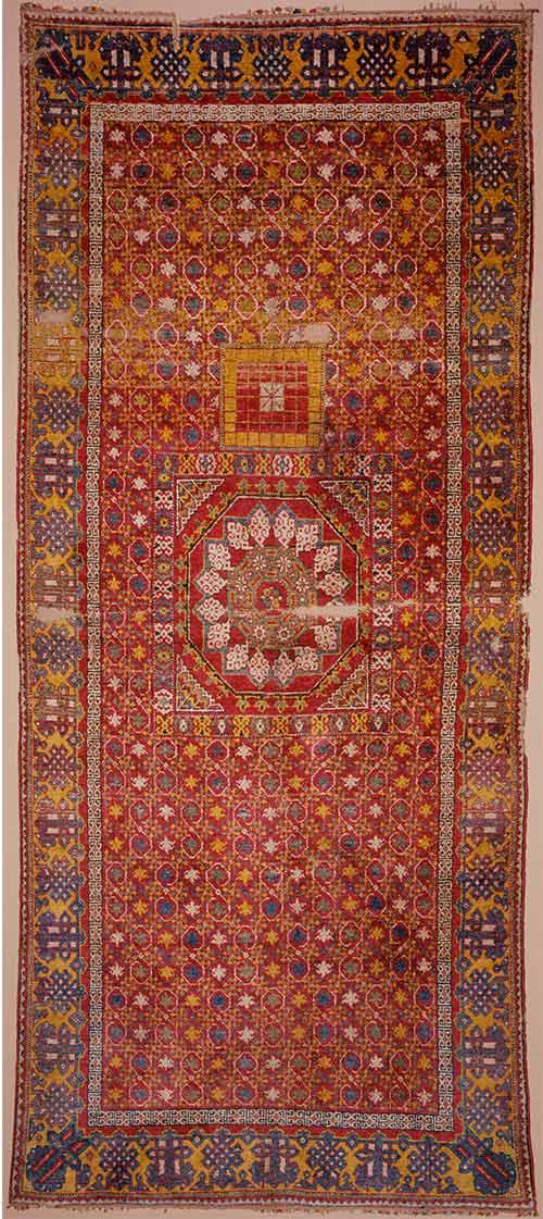 The 'Ashtapada' carpet, Deccan (?), India, first half 15th century. 1.63 x 3.71m Museum of Islamic Art, Doha, Qatar