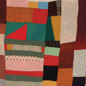 Susana Allen Hunter (1912–2005), Strip Quilt (detail), 1945–1950. Cotton, wool, acetate, and rayon. The Henry Ford, 2006.79.26. From the Collections of The Henry Ford, Dearborn, Michigan