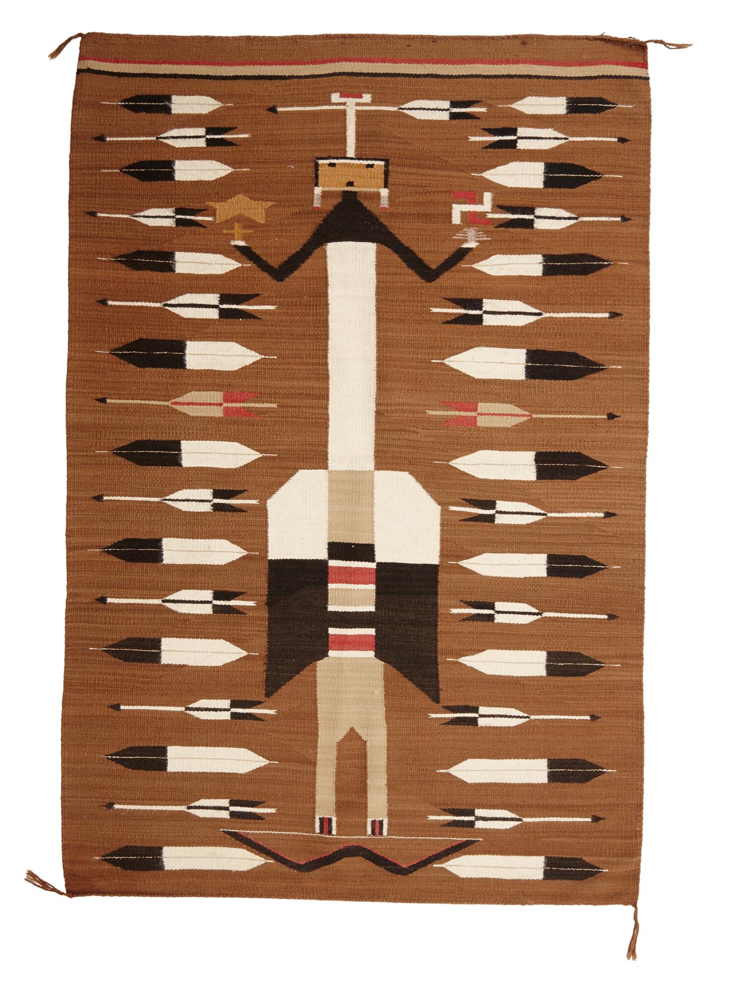 Important Oceanic & African Art, 14 September 2013, Webb's, Auckland Lot 312, Navajo rug, Arizona, USA.