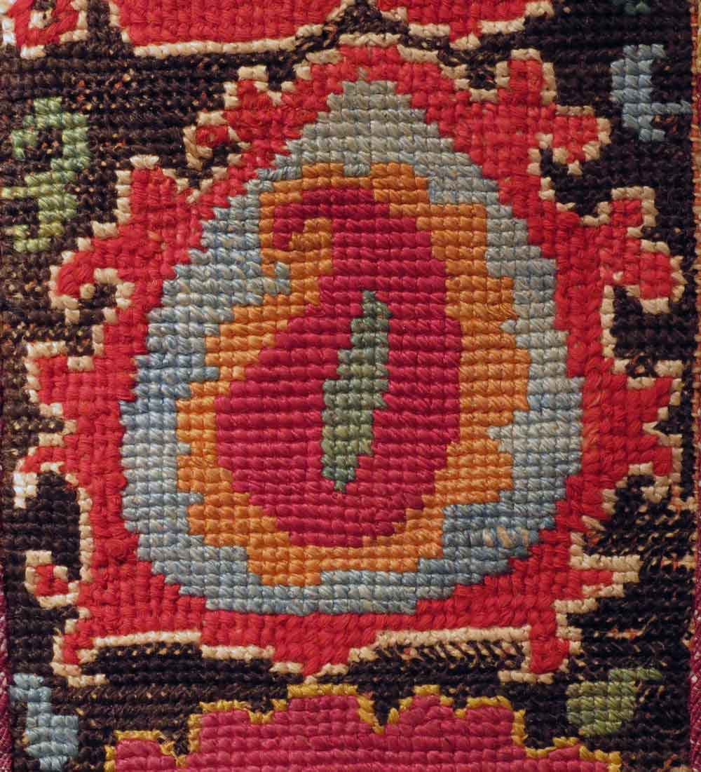 Detail---Uzbek-Embroidered-Band_Belt,-Shahrysabs-Region,-Central-Asia,-19th-century,-3-1_4'-x-2'-6'