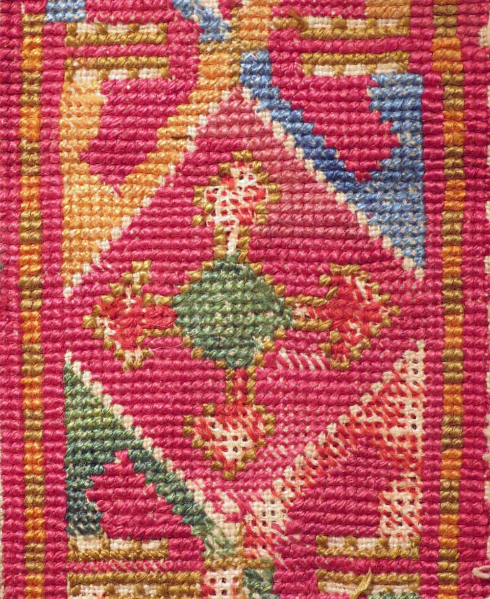 Detail--Uzbek-Embroiderey,-Band-Fragment,-mid-19th-century
