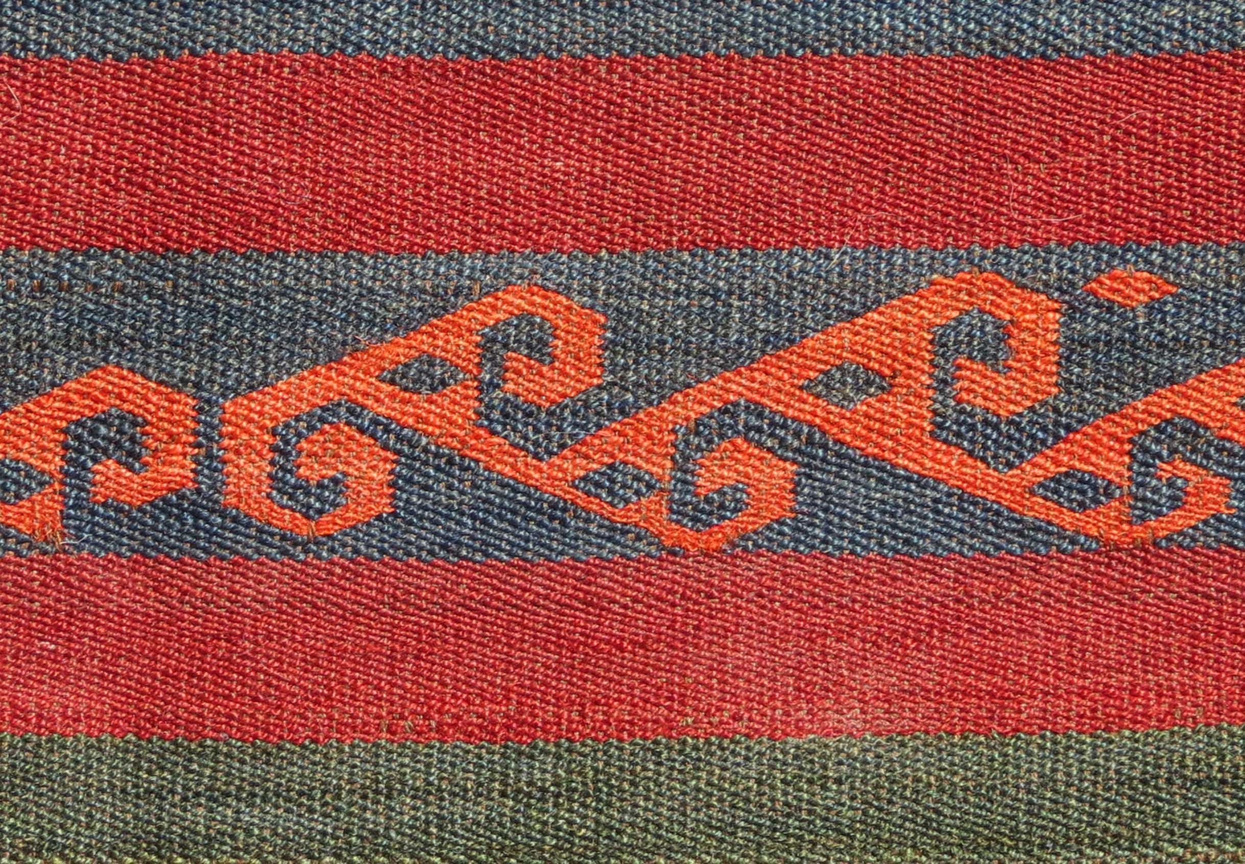 Detail - Uzbek Flat Weave, Central Asia, 19th century, 3' x 4'2