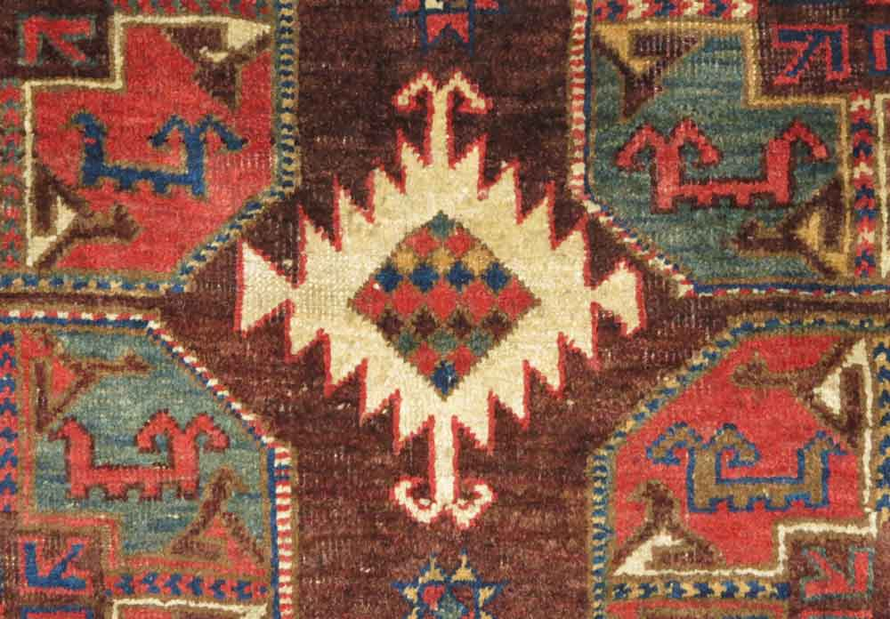 Detail---Uzbek-Group-Main-Carpet,-Central-Asia,-mid-19th-century-(or-before,-5'-4'-x-12'-2'