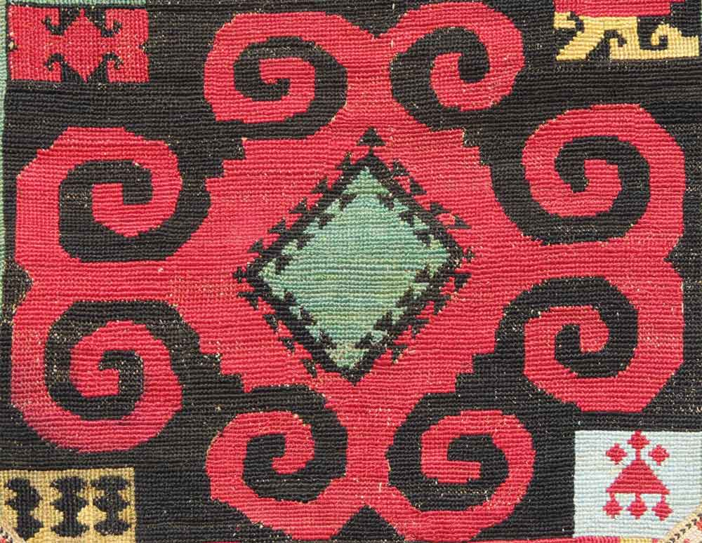 Detail----Uzbek-'Ilgich',-Silk-embroidery,-Central-Asia,-19th-century,-11'-x-1'9'