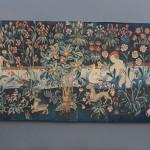 Millefleurs tapestry fragment,Tournai (?), circa 1500. Gallery Moshe Tabibnia, Milan