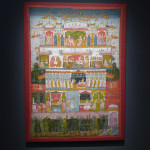 Francesca Galloway's stand at Frieze Masters showed part of her current exhibition of art from the Mughal court, which includes miniatures from a Princely Collection alongside other works of art including this miniature from southwest Rajasthan: 'A Scene in Heaven' Marwar, India, 1725-50, watercolour and gold on cotton. Francesca Galloway, London