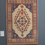 This exceptional carpet is a totem for the Ottoman period rugs woven in Anatolia during the 17th century that survive in great numbers in the Protestant churches of Transylvanian. Double niche white ground Transylvanian rug, 17th century, west Anatolia. Gallery Moshe Tabibnia, Milan