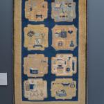 'Hundred Antiques' carpet, Ningxia, 18th century, northwest China. Gallery Moshe Tabibnia, Milan