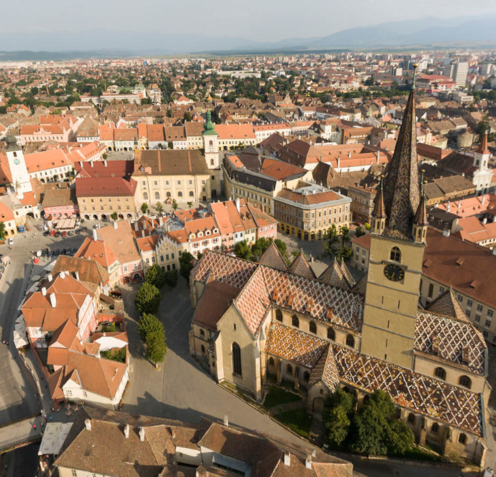 3a Sibiu with the great  Evanghelical Lutheran Chuch Sibiu by Scott Eastman Eastman