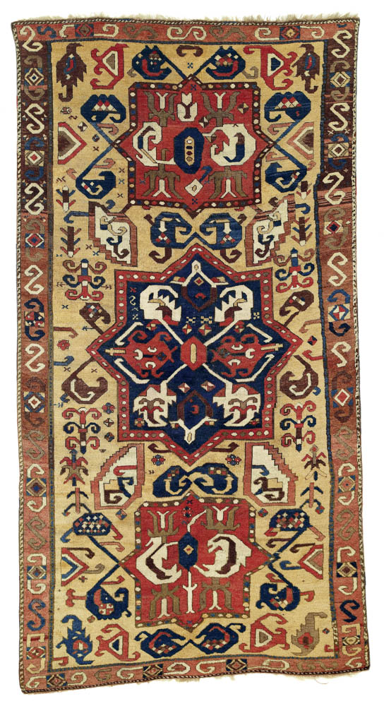 The Grote-Hasenbalg/Cassirer Northeast Anatolian rug, ca. 1700, 132 x 252 cm. Rippon Boswell, Wiesbaden, 30 November 2013, lot 138, estimate €70,000