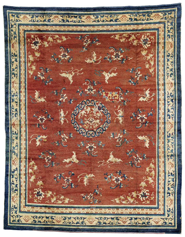 Ningxia carpet, northwest China, second half 18th century. 251 x 315 cm. Rippon Boswell, Wiesbaden, 30 November 2013, lot 151, estimate €24,000
