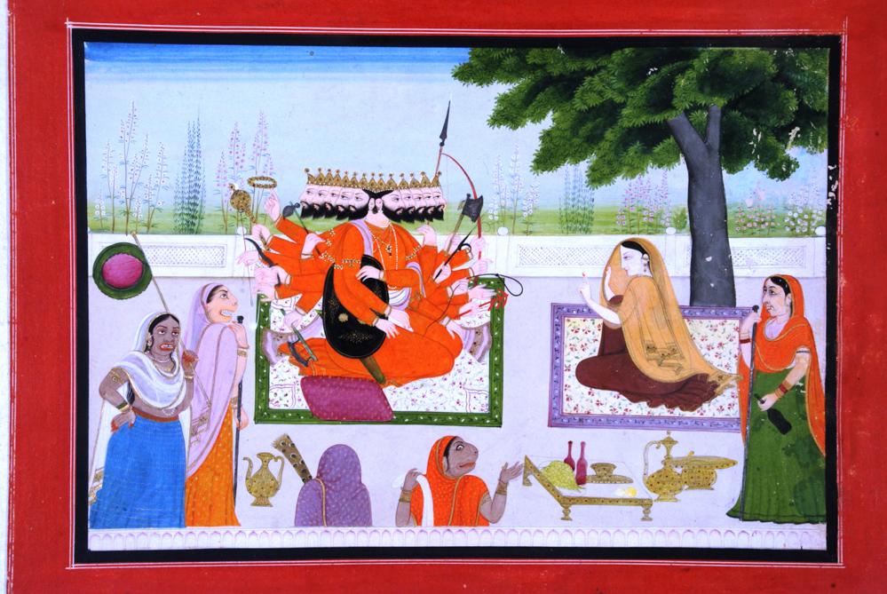 59.Ravana in AsokaVatika