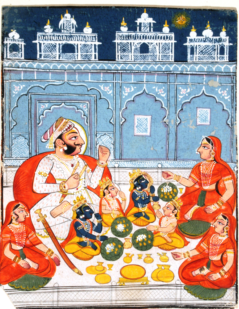 6.Dasratha with sons& queens